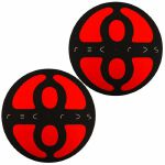 Slipmat Factory Plus 8 Slipmats (pair, black & red)