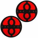 Slipmat Factory Plus 8 Slipmats (pair, black & red)