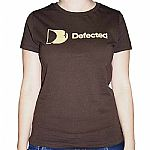 Classic Defected T-Shirt (chocolate brown with cream logo)