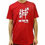 Tic Tac Toe Classic Logo T-Shirt (red with white logo)