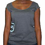 Trenton Sleeveless T-Shirt (asphalt grey with blue logo)