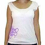 Kalimari On Side Sleeveless T-Shirt (pink with purple logo)