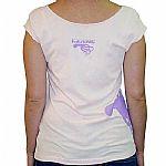 Kalimari On Side Sleeveless T-Shirt (pink with purple logo)