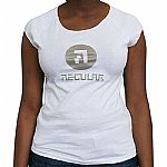 Music For People T-Shirt (white with shiny grey logo)