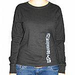 Boxer Sport Girls Long Sleeve T-Shirt (black with grey logo)