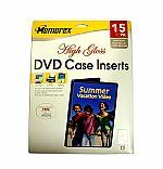 Memorex DVD Case Inserts (15 pack) (white gloss)