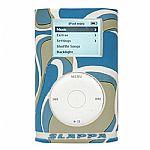 Slappa Shockshell Hardcase For iPod Mini (blue mod swirl design)