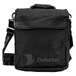 """Defected CD Bag (black) (holds 160 CDs, headphone/accessories pocket, padded laptop pocket (13.5"""" x 12"""" x 2""""), ergonomically designed shoulder strap (removable), teflon coated for extra protection from stains and to repel rain)"""