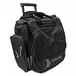 "Defected Record Trolley Bag (black) (holds 50 records, multiple pockets for headphones/accessories, teflon coated to repel rain/stains, defected logo on front, side pockets & lined interior, dimensions:15"" x 17"" x 9"")"