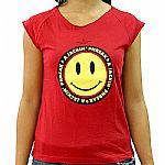 A Jackin Phreak Sleeveless T-Shirt (red with yellow smiley face)