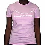 Natural Groove T-Shirt (pink with white logo)