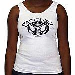 MANDY Girl Vest (white with black logo)