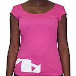 Vakant T-Shirt (pink with white logo)