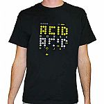 Acid House T-Shirt (black with yellow & white logo)