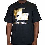 #4 Lessons In Mixing: Drills/Flutters T-shirt (black with gold logo)