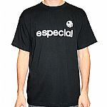 Especial Records 10th Anniversary T-Shirt (black with white foam front & back print)