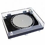 AM/FM Turntable Radio (turntable design AM/FM radio in black & silver, 4 x AA battery operated and not included)
