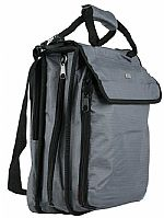 Agenda 320 + 16 Pro DJ CD Carry Case (grey) (heavy duty 600D polyester ripstop/PVC fabric shell, supplied with 40 x 8 capacity CD sleeves (total 320 capacity), toughened rubber corner protectors, detachable & adjustable shoulder strap with shoulder pad)