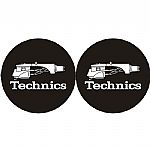 Technics Headshell 1 Slipmats (pair, black/white)