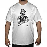 10 Years Of Poker Flat T-shirt (white with black design)