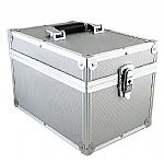 "Covers 33 7"" 45 Record Box Flight Case 100 (silver)"
