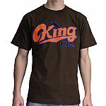 King Inc Logo T-shirt (brown with orange & blue design)