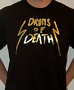Drums Of Death T-shirt (black with gold logo)