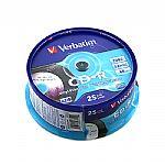 Verbatim Printable Vinyl Effect CDR80 Blank CDRs (spindle of 25)