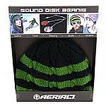 Aerial7 Sound Disk Beanie (black/green knit)