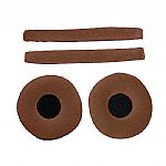Zomo Replacement Earpads & Headband Pad Set For Sennheiser HD25 Headphones (velour, wood)