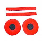 Zomo Replacement Earpads & Headband Pad Set For Sennheiser HD25 Headphones (velour, red)