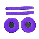 Zomo Replacement Earpads & Headband Pad Set For Sennheiser HD25 Headphones (velour, violet)