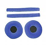 Zomo Replacement Earpads & Headband Pad Set For Sennheiser HD25 Headphones (velour, sky)