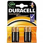 Duracell AAA Plus Power Alkaline Batteries (pack of 4)