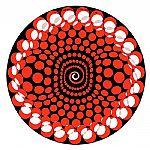 Zomo Animating Slipmats (Balls Red) (pair)