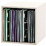Glorious 12 Inch LP Vinyl Record Storage Box 110 (white)