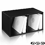 Zomo VSBox 12 Inch Vinyl Record Storage Box 200 (black, flat-packed)