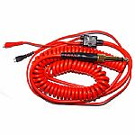 Zomo Replacement Deluxe Coiled Cable For Sennheiser HD25 (red, 3.5m)