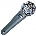 Shure Beta 58A Dynamic Microphone (metallic blue)