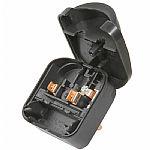 2 Pin European To UK Adapter Plug (black, 13A)