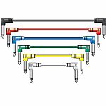 Chord Classic Patch Leads (0.5m, coloured, pack of 6)