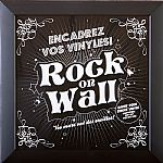 Rock On Wall Vinyl Record Album LP Frame (black)
