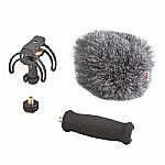 Rycote Portable Audio Recorder Kit For Zoom H4N With Suspension Windshield & Grip 046001