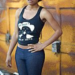 Wild Oats Female Tank Top (black with WO logo print)