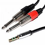 Chord Audio Lead 3.5mm Stereo Jack to 2 x 6.3mm Mono Jacks (3.0m)