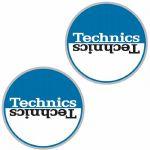 Technics Moon 2 Slipmats (pair, blue & white)