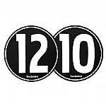 Technics 1210 Slipmats (black & white, pair)