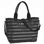 Nixon Guide Courier Bag (all black stripe)