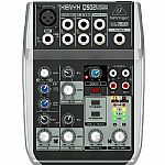 Behringer Q502 USB Xenyx Premium 5 Input, 2 Bus Mixer With Traktion 4 Audio Production Software