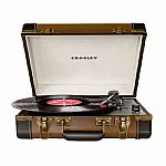 Crosley CR6019A Executive Portable USB Turntable (brown & black)